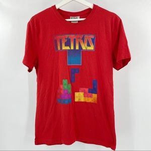 Tetris red graphic tee short sleeves